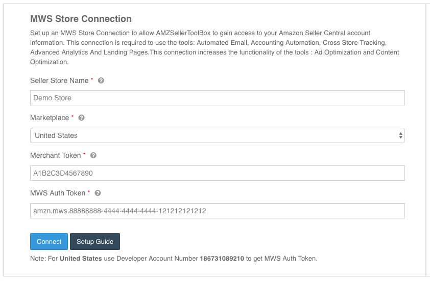 Connecting your Amazon Store | AMZSellerToolBox